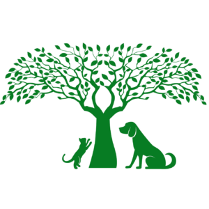 Shaker Heights Animal Hospital logo with cat and dog