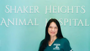 veterinary staff member Pamela at Shaker Heights Animal Hospital